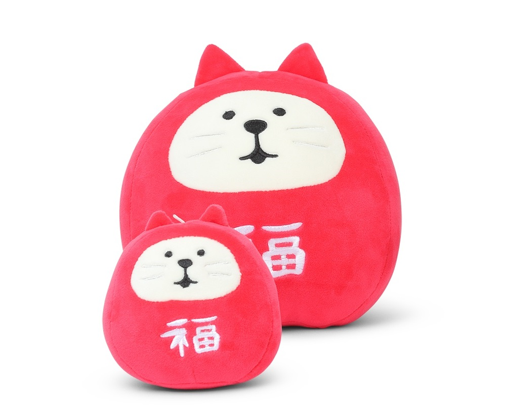 Plush Cat Daruma Small