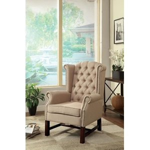 59310 BEIGE ACCENT CHAIR