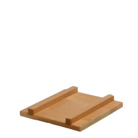 "Egg Pan Cover 8.25""Sq Wood"
