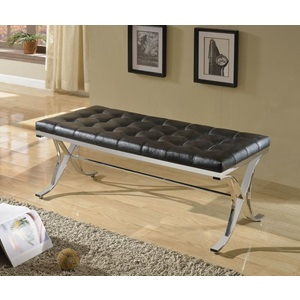 96412 BLACK PU/CHROME BENCH
