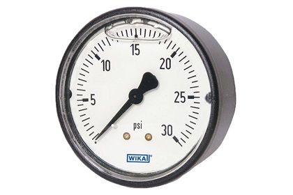 Plastic Pressure Gauge | Glycerin Filled | Center Back Mount | 0-400 Range