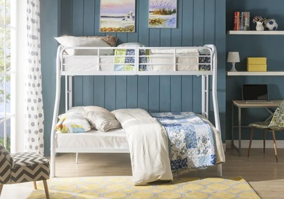 02043WH WHITE T/F BUNKBED KD VERSION