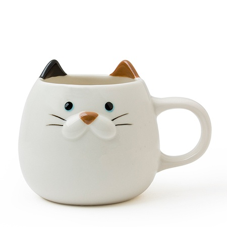 Cat Ear Mug 10 Oz. Calico