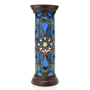 "26.75""H Stained Glass Brandi Tiffany Style Floor Pedestal"