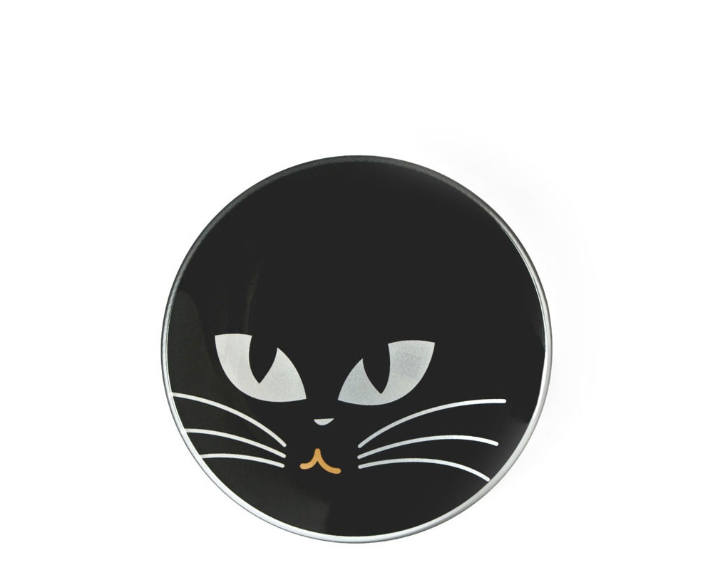 "Cat Eyes 3.5"" Mini Glass Dish - Black"