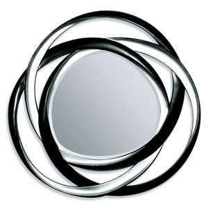 "97056 BK/SILVER ACCENT MIRROR, 51""D"