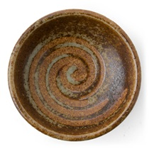 "Brown Swirl 3.25"" Sauce Dish"