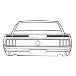 1970 Mach 1 Trunk Stripe Kit (Black)