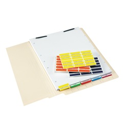 52100 Patient Chart Index Tabs & Divider Sheets