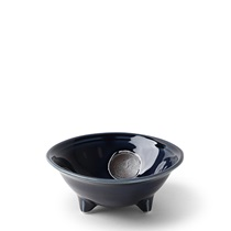 "Dotted Navy 4.75"" Sauce Bowl"