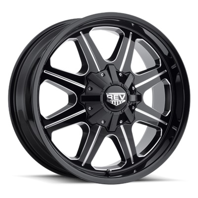 REV Off Road 823 Series 17x9 6x139.7 - Milled/Black