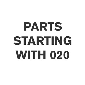 Parts Starting With 020