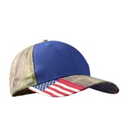Baseball Cap with Camo & Flag Accents