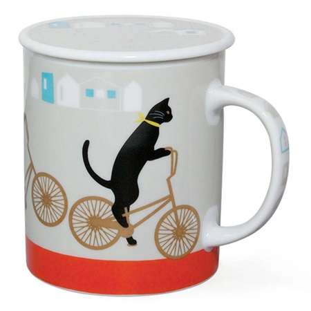 Cruiser Cat 8 Oz. Lidded Mug - Gray