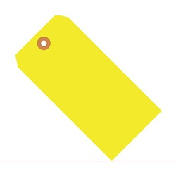 "4.75 X 2.375"" FLUORESCENT YELLOW SHIPPING TAG, #5,"