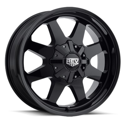 REV Off Road 823 Series 17x9 5x127/5x139.7 - Gloss Black