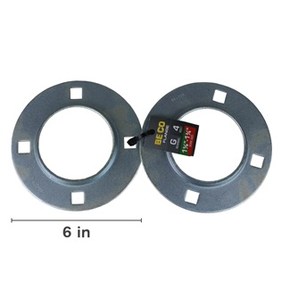 Stamped Steel 4 Bolt Flange