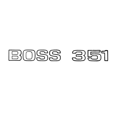 1971 Boss 351 Trunk Decal (Black)