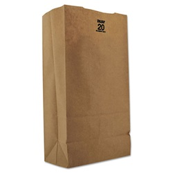 20# HEAVY 57# GROCERY BAG, 8-1/4 X 5-5/16 X 16-1/8 DURO BULWARK, 500/BD   30920