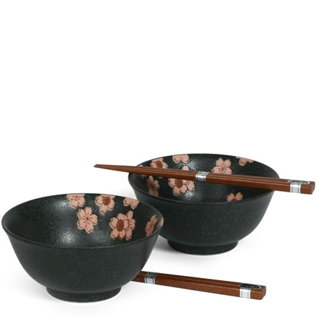 "BLACK SAKURA 6"" BOWL SET"
