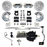 1967-69 Manual Trans. Power Disc Brake Conversion Kit w/ Drilled/Slotted Rotors