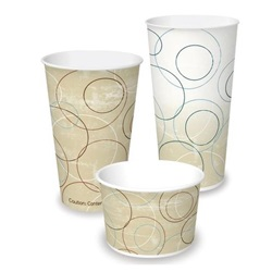 5 OZ PAPER COLD CUP, CHAMPAGNE SWIRLS, DMR-5  2500/CASE