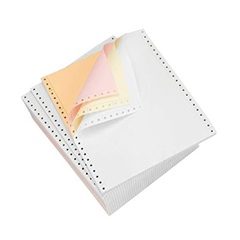 "9.5 X 11"" 4-PART CARBONLESS WHITE/CANARY/PINK/ GREEN CONTINUOUS FEED FORMS, 900/CS  951324"
