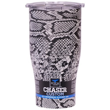 BLACK SNAKESKIN/CLEAR 27OZ CHASER