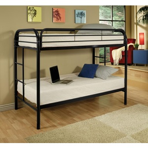 02188BK BLACK TWIN/TWIN BUNK BED