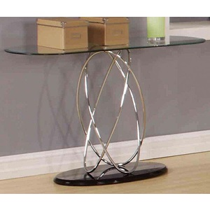80800_KIT DERON CHROME/BK SOFA TABLE