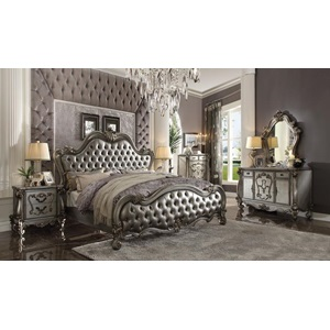 26840Q VERSAILLES II SILVER QUEEN BED