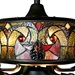 "52""W Tiffany Style Stained Glass Halston Ceiling Fan"