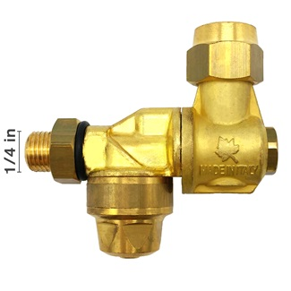 "1/4"" Male Single Rollover Italian Made Brass Rollover Nozzle"