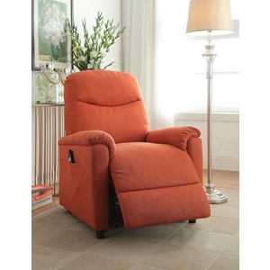 59346 ORANGE RECLINER W/POWER LIFT