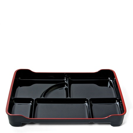 Black Lacquered Lunch Tray