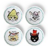 Cats in Hats Mini Plate Set