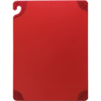 "San Jamar CBG182412RD Cutting Board 18""x24"" Red"