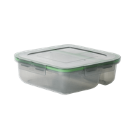 "MyGo™ Small 3-Compartment Container, 8"" X 8"" X 2-1/2"""