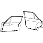 Front & Rear Door Weatherstrip Kit