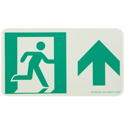 Running Man with Arrow Sign, Up