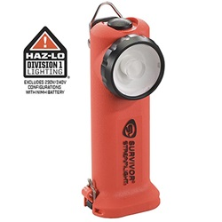 Streamlight Survivor Safety-Rated Firefighter's Right Angle Light, Rechargeable (without Charger) - Orange NiCD
