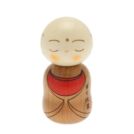 Kokeshi Ojizo Brown