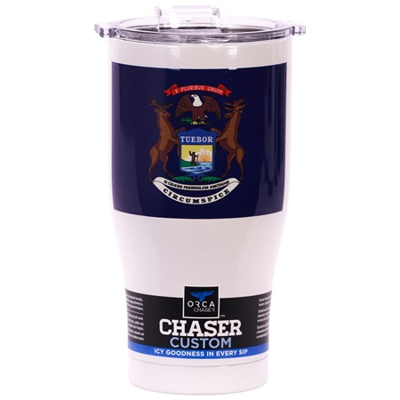 Michigan State Flag Chaser 27Oz