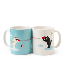 Cat Hearts 8 Oz. Mug Set