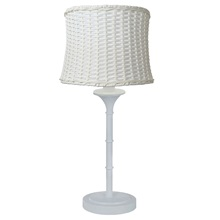 "25.25""H Outdoor and Indoor Basket Weave Table Lamp"