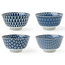 "Blue & White 5"" Bowl Set"