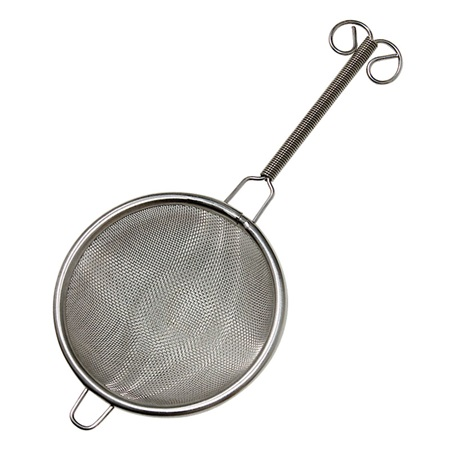 "TEA STRAINER 3"" WITH HANDLE"