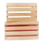 2 Pc. Regular Nested Wood Crates (Reg. & Med.)