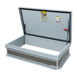 "30"" x 54"" Personnel II Roof Hatch, Ladder Access, Steel"