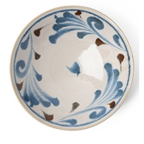 "Rustic Blue Vines 9.75"" Serving Bowl"